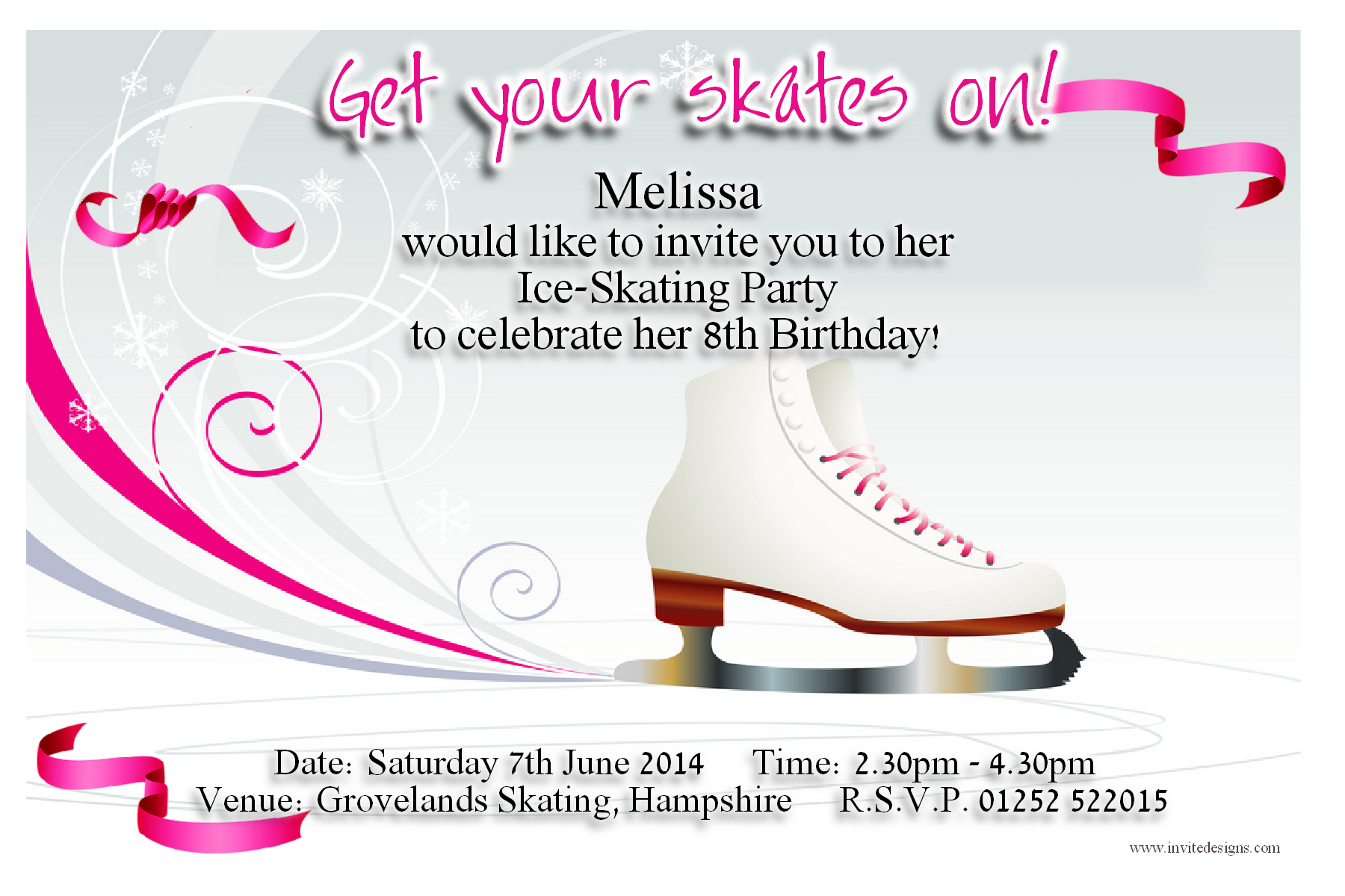 8th birthday invitation templates ; ice-skating-birthday-invitations-by-means-of-creating-pretty-outlooks-around-your-Birthday-Invitation-Templates-8