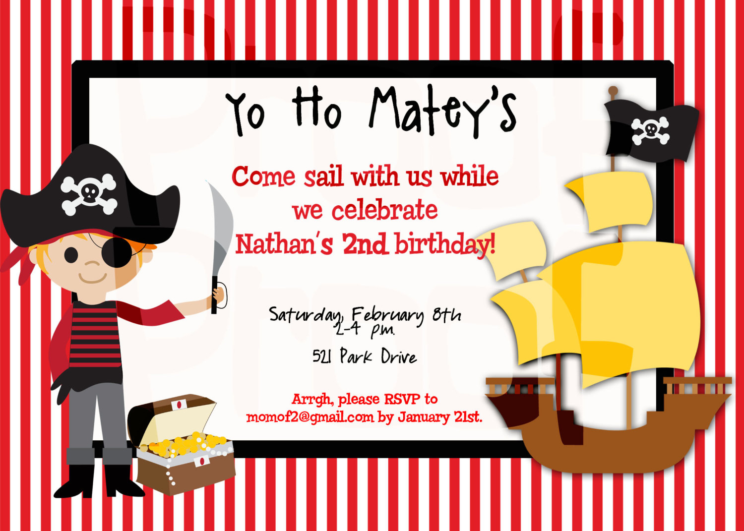 8th birthday invitation templates ; pirate-birthday-invitations-for-the-invitations-design-of-your-inspiration-Birthday-Invitation-Templates-party-8