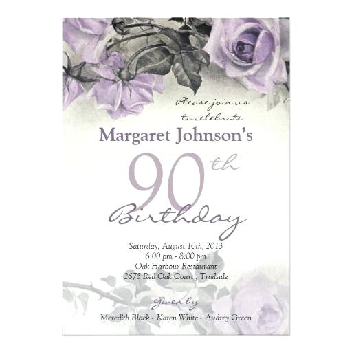90th birthday invitations templates free ; 90th-birthday-party-invitations-also-vintage-sterling-silver-purple-rose-birthday-card-for-make-perfect-90th-birthday-party-invitations-templates-free-777