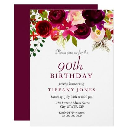 90th birthday party invitations ; 7dc42fae7d423a273faf995cbc877264