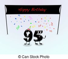 95th birthday clipart ; 95th-birthday-party-illustration-for-95th-birthday-party-with-cartoon-numbers-drawing_csp11014147