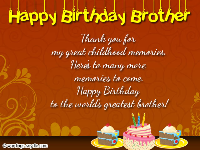 a birthday message for my brother ; birthday-card-wording-for-brother
