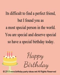a birthday quote for a special friend ; 54a15546bd2d280c4692aab542d62552--happy-birthday-sayings-birthday-greetings