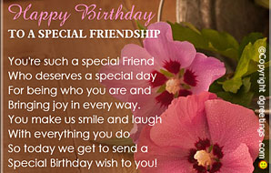 a birthday quote for a special friend ; birthday-quotes-cards15