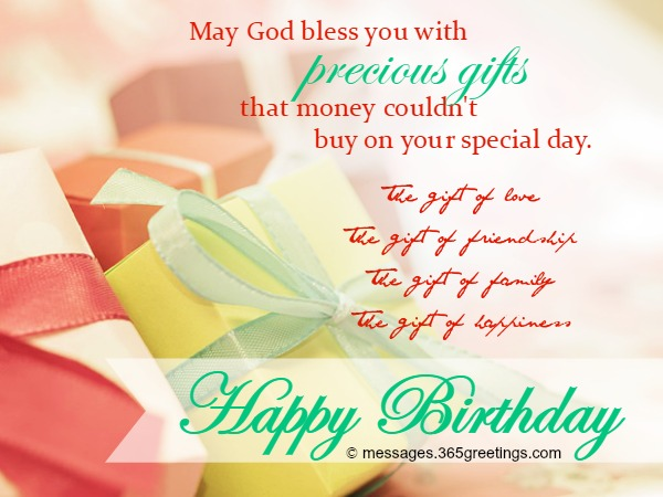 a blessed birthday message ; christian-birthday-greetings