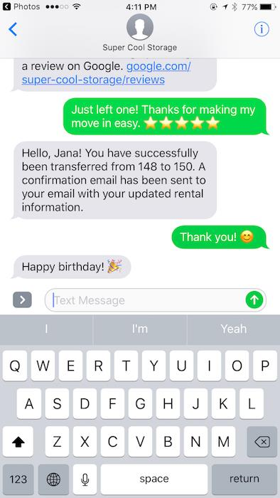a good happy birthday text message ; super-cool-storage-happy-birthday-text
