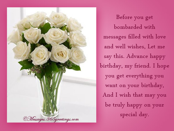 a happy birthday message to my best friend ; advance-birthday-wishes-for-friends