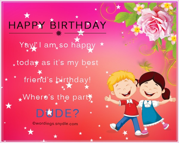 a happy birthday message to my best friend ; birthday-messages