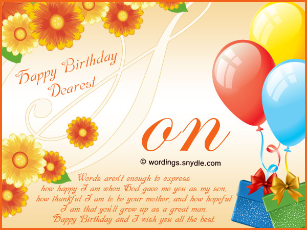 a message for a mother on her birthday ; happy-birthday-wishes-for-a-son