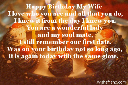a poem for my wife on her birthday ; 2476-wife-birthday-poems