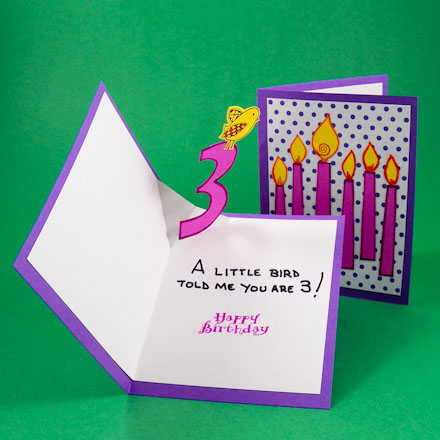 a pop up birthday card ; VFoldPopupCard440