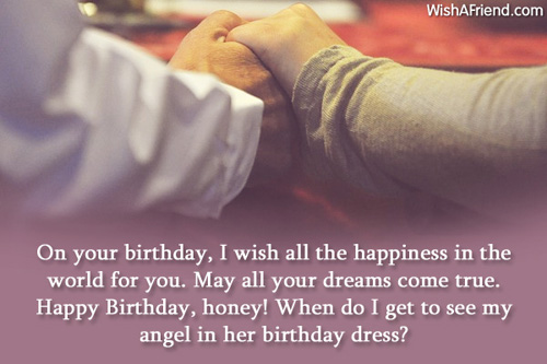 a romantic birthday message for my girlfriend ; On-Your-Birthday-I-Wish-All-Happiness-In-The-World-For-You-Angle-In-Her-Birthday-Dress