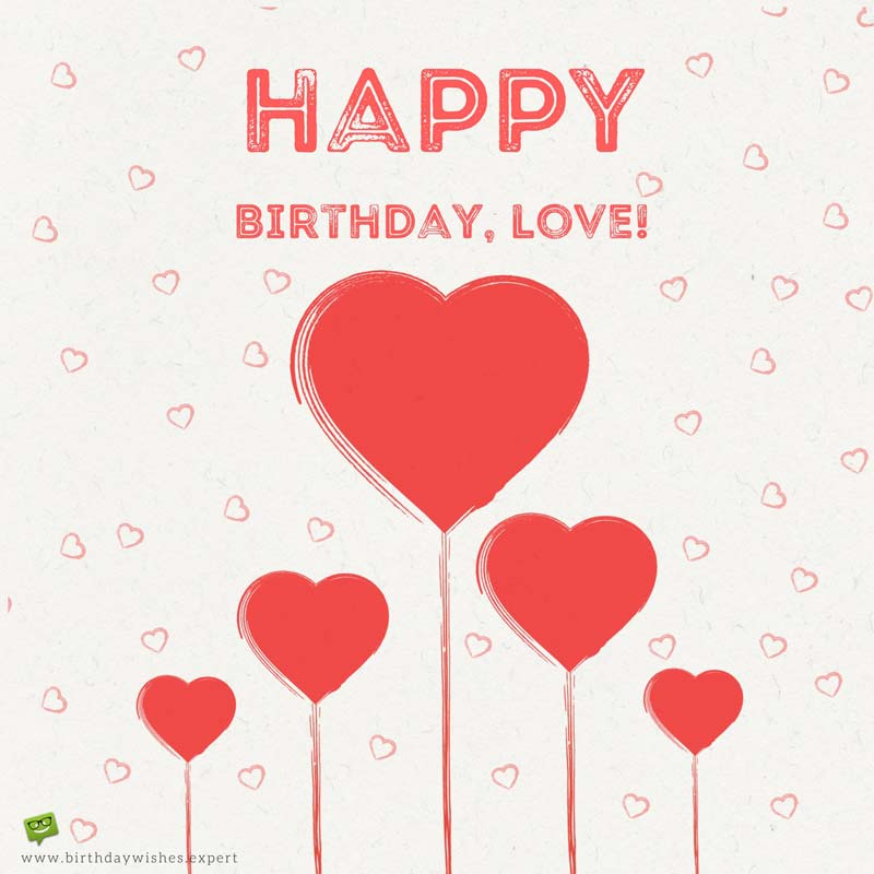 a sweet happy birthday message to your girlfriend ; Cute-birthday-wish-for-girlfriend-on-image-with-retro-red-hearts-2