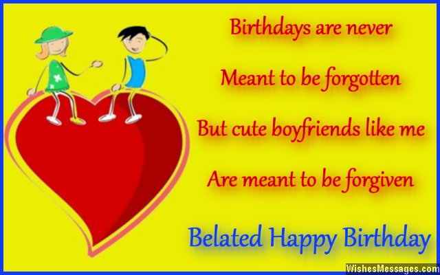 a sweet happy birthday message to your girlfriend ; Sweet-belated-birthday-card-wish-to-girlfriend-from-boyfriend