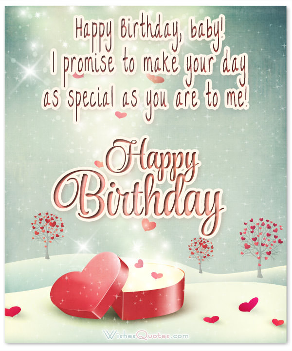 a sweet happy birthday message to your girlfriend ; happy-birthday-baby