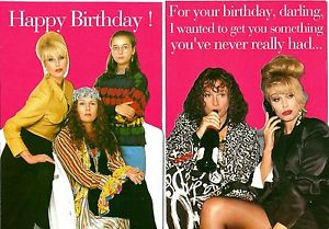 absolutely fabulous birthday card ; s-l300-1