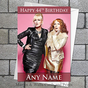 absolutely fabulous birthday card ; s-l300
