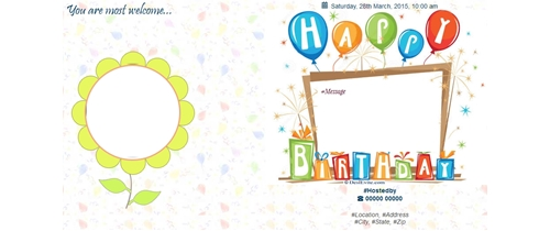 an invitation card for a birthday party ; Thumb-birthday-invitation-card-general-77