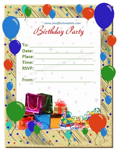 an invitation card for a birthday party ; birthday-invite-template-sweet-pinterest-birthday-card-birthday-with-regard-to-birthday-invitation-card-template