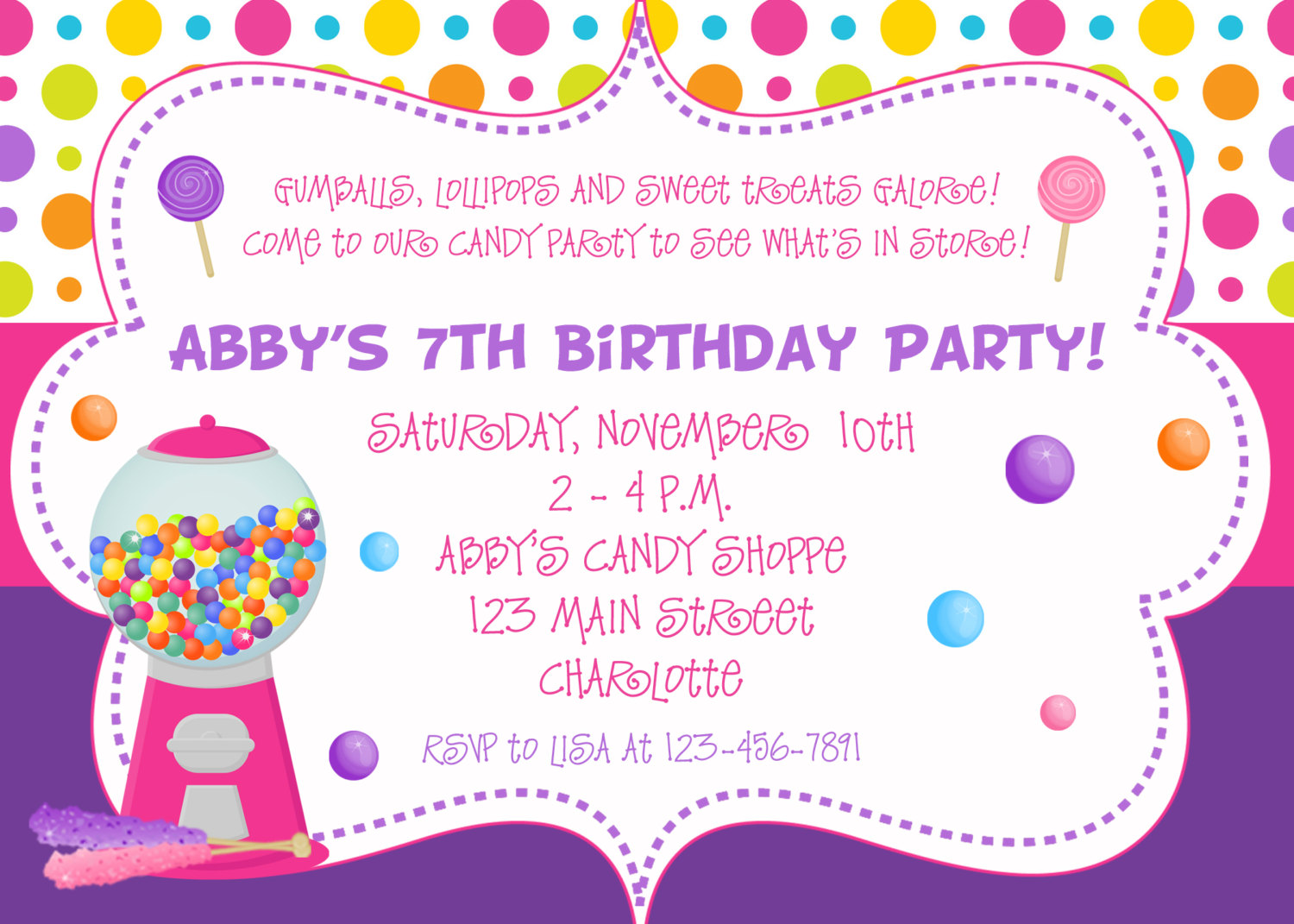 an invitation to birthday party ; party-invitation-template-21154