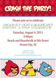 angry bird birthday invitation card ; 18491314075a6d88bfe2324bd853b6d6--angry-birds-party-bird-party
