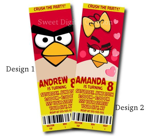 angry birds birthday party invitations printable ; acd23381dbeae3d0073b464b761cf604
