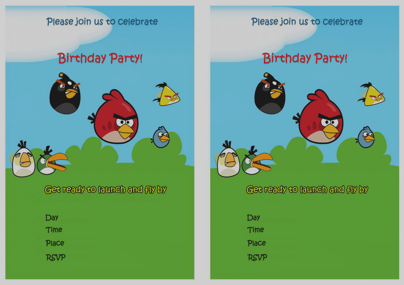 angry birds birthday party invitations printable ; amazing-of-angry-birds-birthday-party-invitations-printable