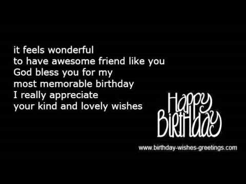 appreciation message to friends on my birthday ; hqdefault