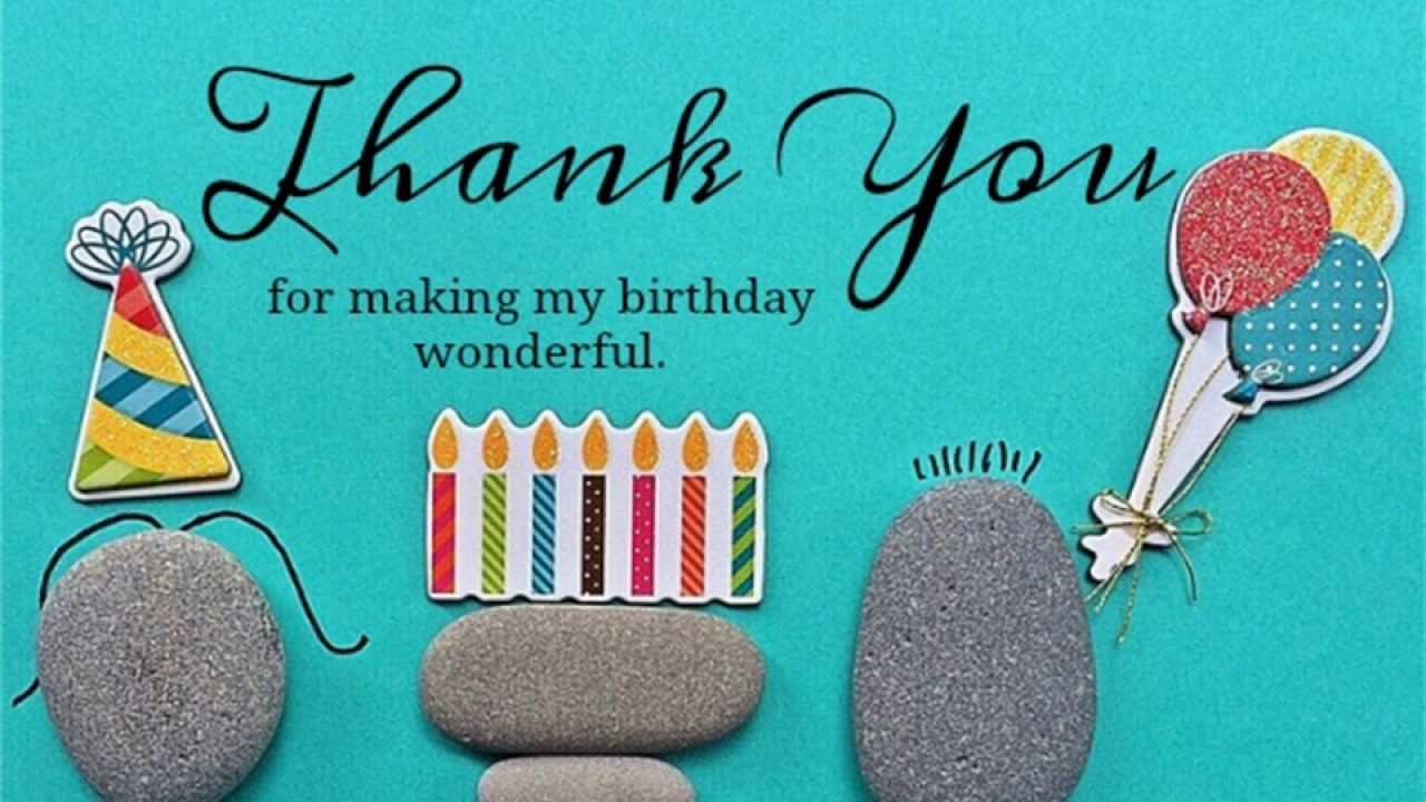 appreciation message to friends on my birthday ; maxresdefault