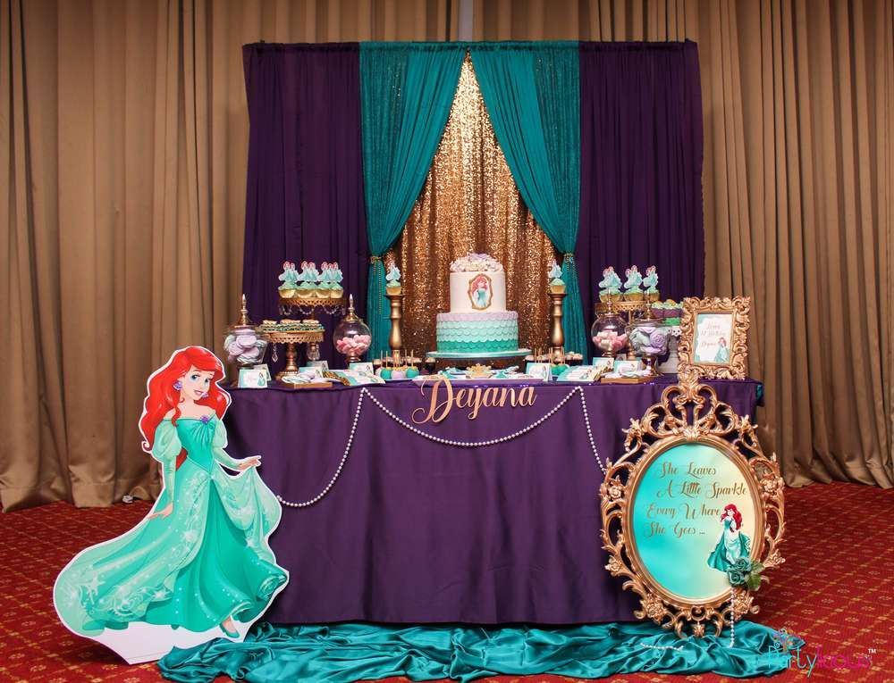 ariel birthday party ; 04cfe38c65ace7c544462b0a8f6f08c3