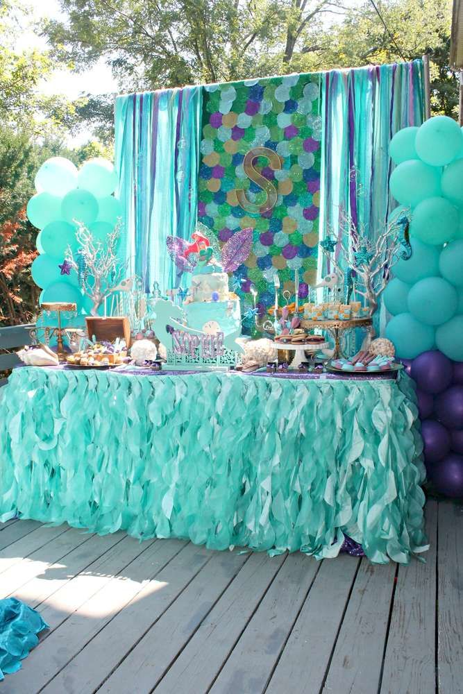 ariel birthday party ; 0a8bb07312548c1dfacc4e88872c3ec0