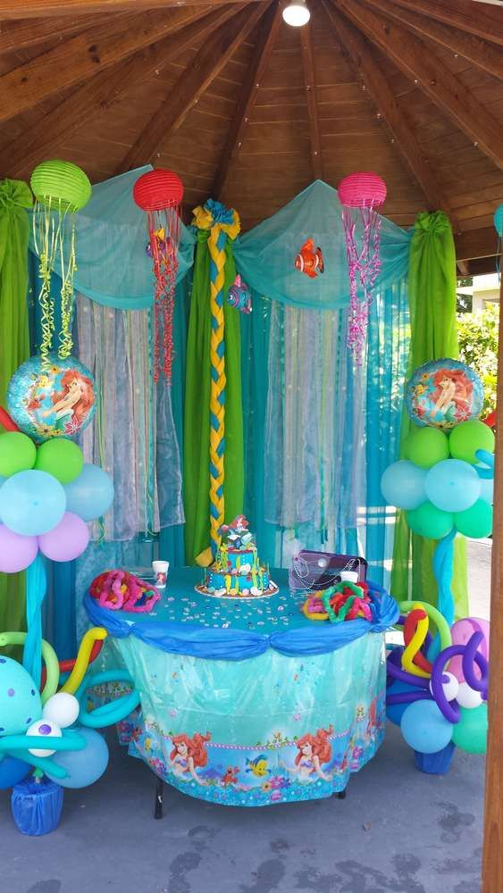 ariel birthday party ; 32c860955100ae331bffa33e5492a2e2--ariel-birthday-party-decorations-ariel-birthday-cake
