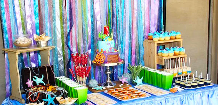 ariel birthday party ; Ariel-The-Little-mermaid-Birthday-Party-via-Karas-Party-Ideas-KarasPartyIdeas-1
