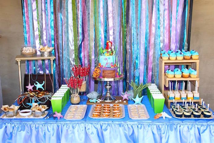 ariel birthday party ; Ariel-The-Little-mermaid-Birthday-Party-via-Karas-Party-Ideas-KarasPartyIdeas-2