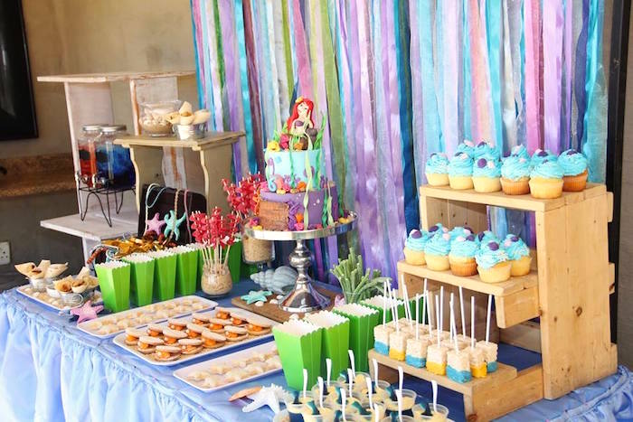 ariel birthday party ; Ariel-The-Little-mermaid-Birthday-Party-via-Karas-Party-Ideas-KarasPartyIdeas