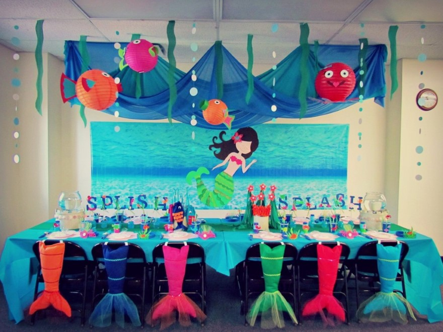 ariel birthday party ; ariel-birthday-party-decorations