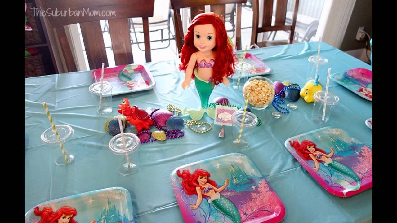 ariel birthday party ; maxresdefault