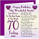 auntie 70th birthday card ; 913jkDHc1bL