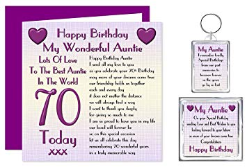 auntie 70th birthday card ; 917vDo51FEL
