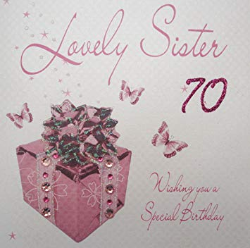 auntie 70th birthday card ; 919Is9fpA6L