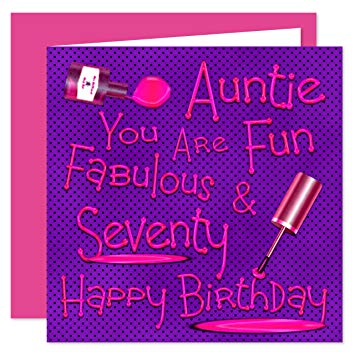 auntie 70th birthday card ; 91Ot6yWvprL