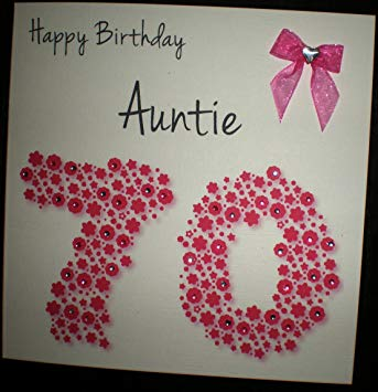 auntie 70th birthday card ; 91gM6X7KBoL