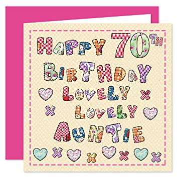 auntie 70th birthday card ; A1N7RCSfFbL