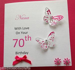 auntie 70th birthday card ; s-l300-2