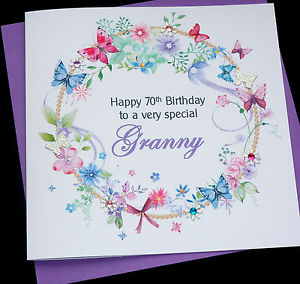 auntie 70th birthday card ; s-l300