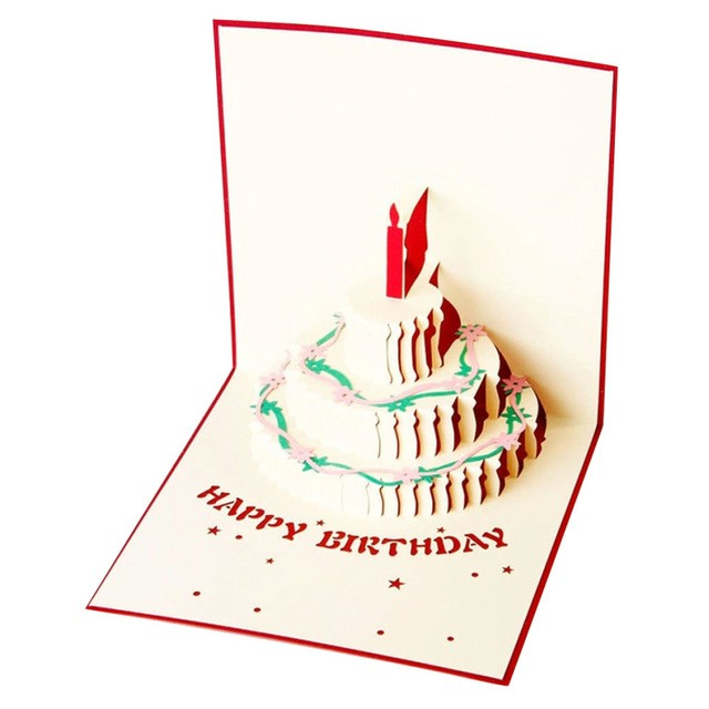 automatic birthday card service ; automatic-birthday-card-service-lovely-creative-birthday-cake-shape-3d-greeting-cards-fantastic-paper-of-automatic-birthday-card-service