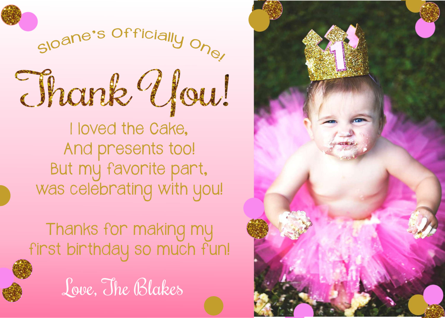 baby 1st birthday card wording ; First-Birthday-Thank-You-Card-Elegant-First-Birthday-Thank-You-Card-Wording