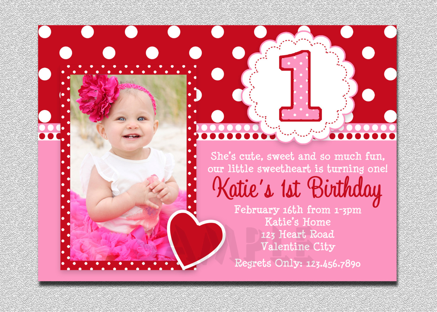 baby 1st birthday card wording ; Valentines-Birthday-Invitation-1st-Birthday