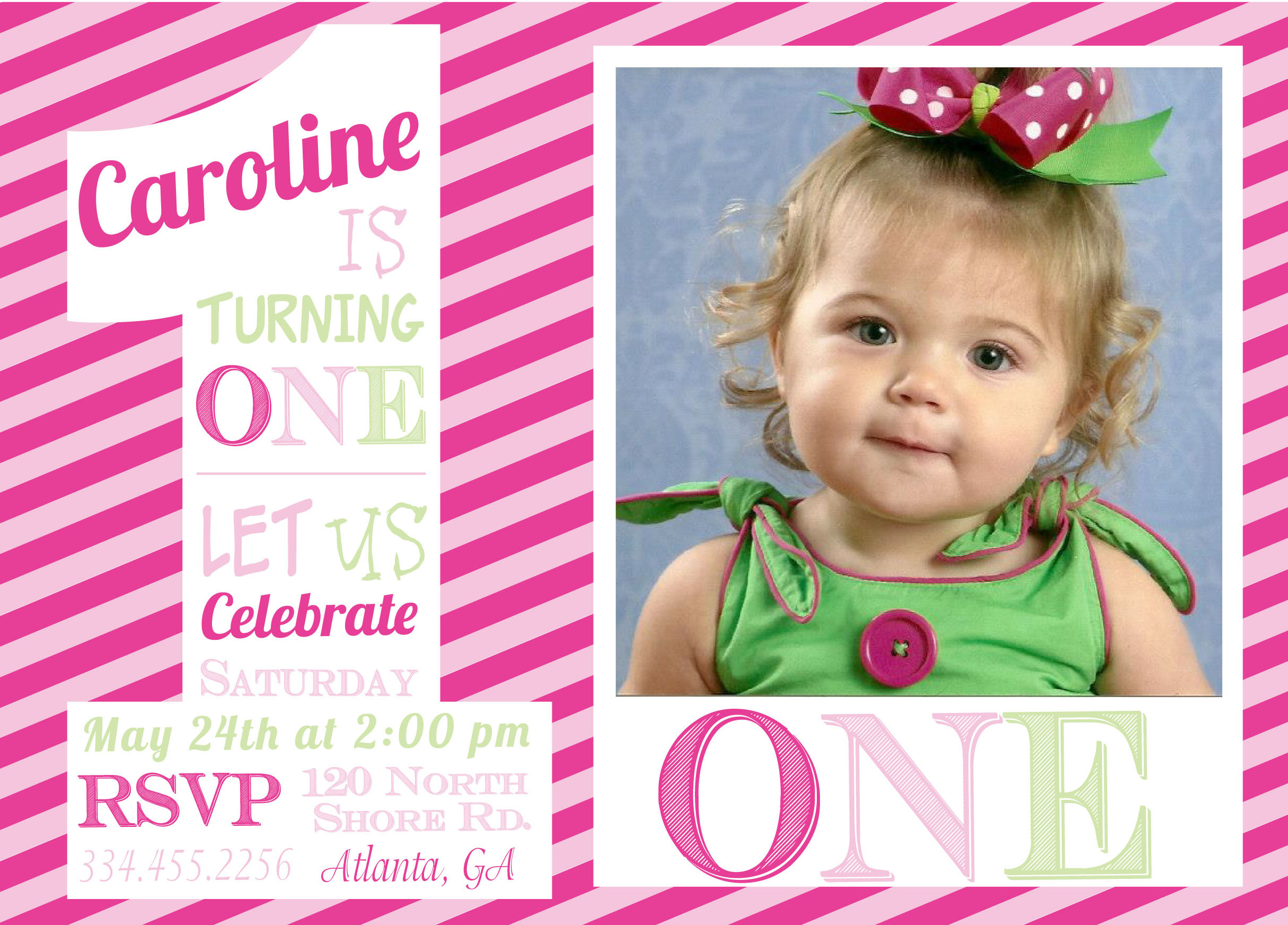 baby birthday invitation templates ; 1st-birthday-invitations-girl-wording-1