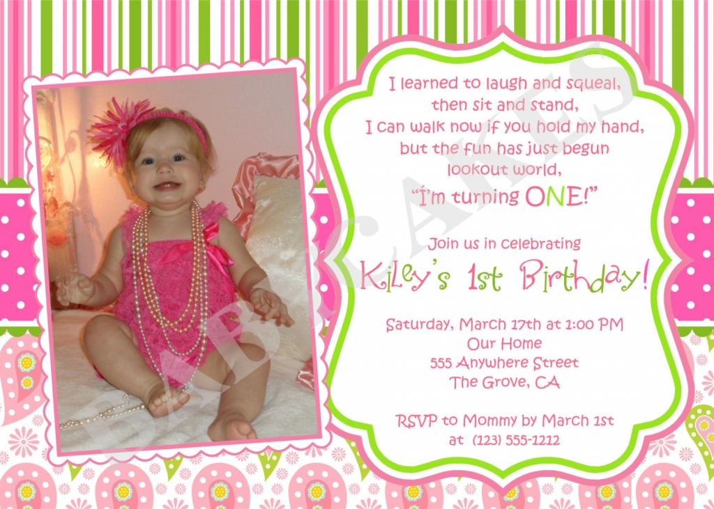 baby first birthday invitation templates free ; baby-girl-1st-birthday-invitations-1st-birthday-invitations-girl-template-free-wally-designs